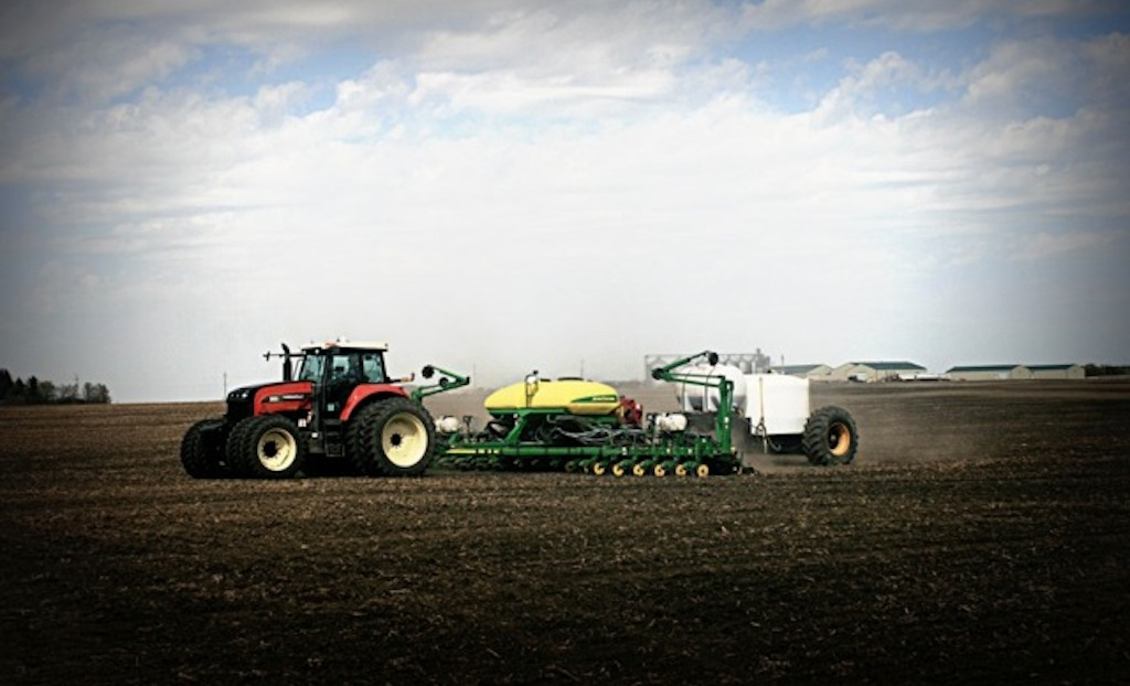 Darrel Carlisle planting a 2015 crop of corn for the Carlisle Farm!